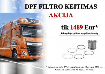 DPF filtru keitimas AKCIJA DAF